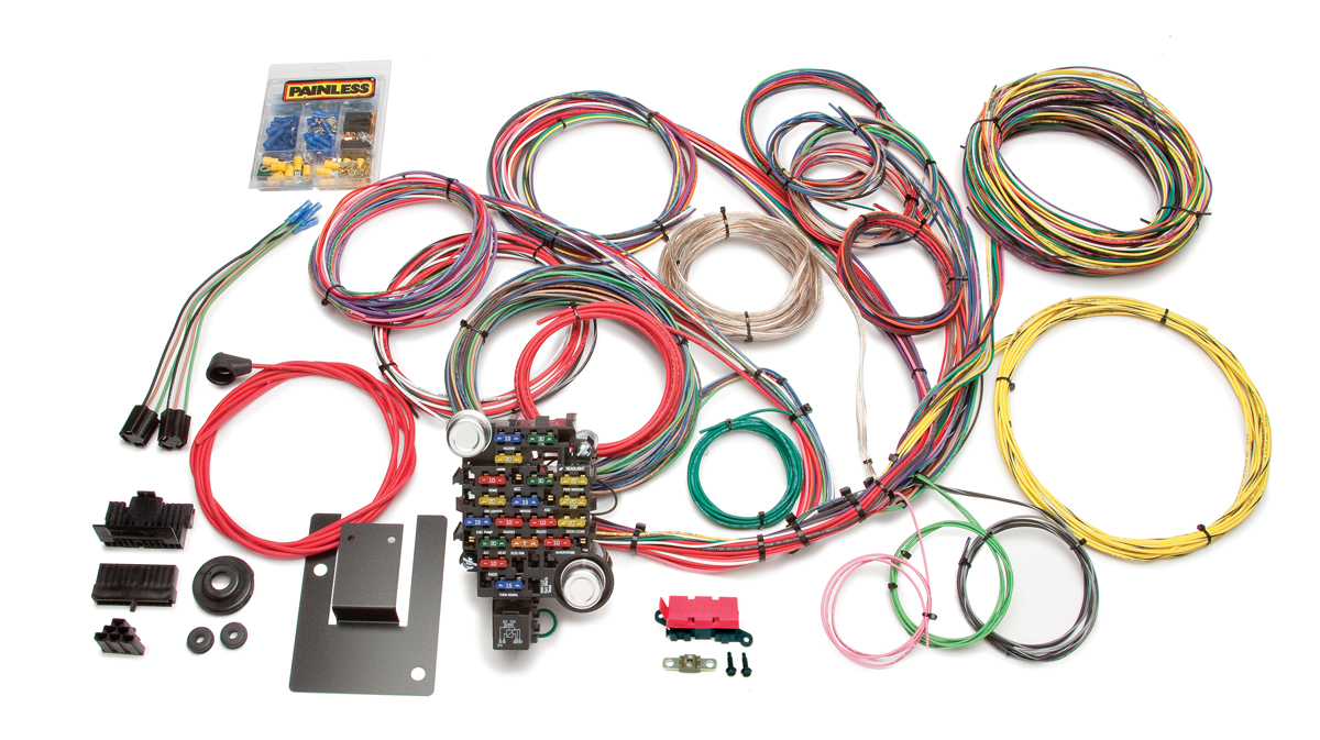28 circuit classic-plus tri-five chevy chassis harness   painless  performance  painless wiring