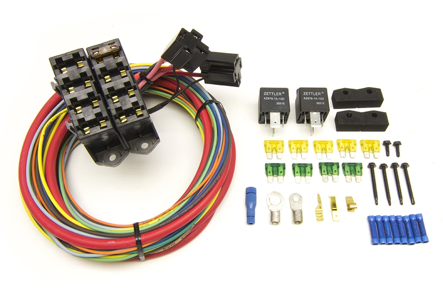 cirkit boss heavy duty auxiliary fuse block/7 circuits (7 ignition 12v) |  painless performance  painless wiring