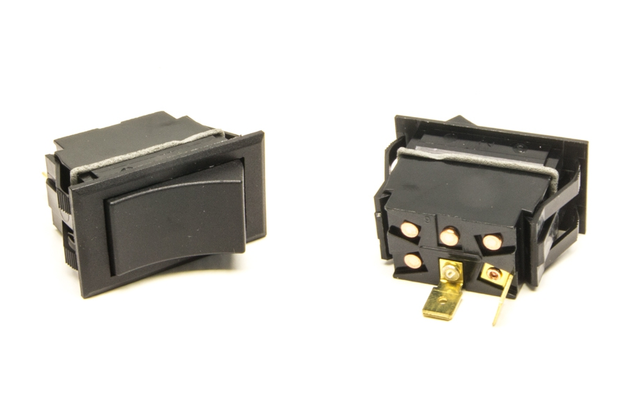 Rocker Switch / Momentary On / Non-Lighted / Black By Painless Performance
