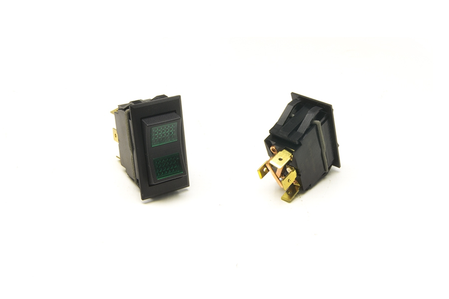 Rocker Switch / On-Off-Momentary On / Green Lighted By Painless Performance