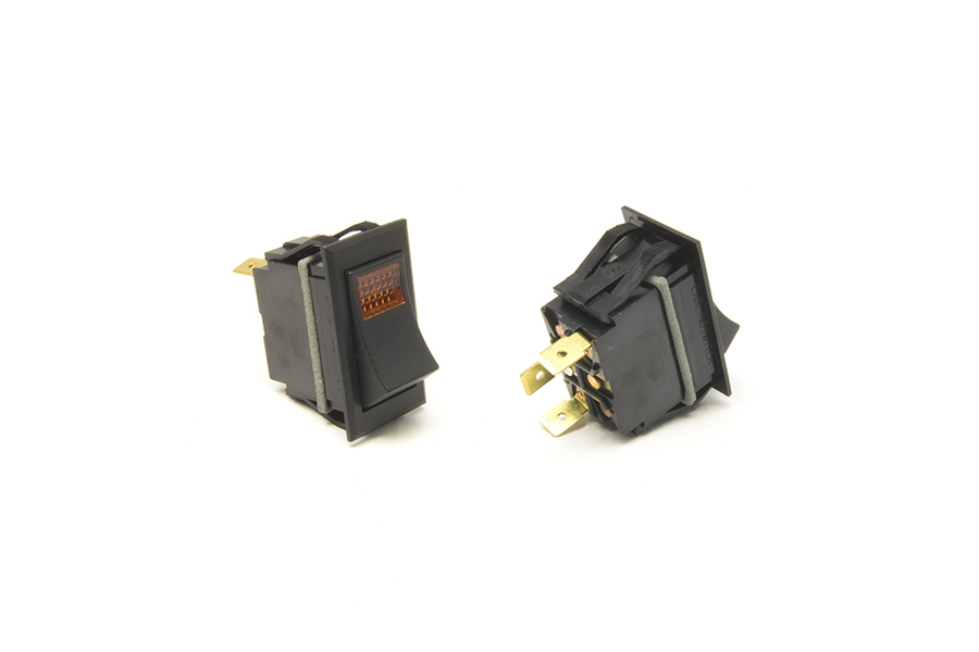 Rocker Switch / On-Off / Amber Lighted By Painless Performance